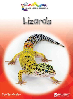 Cover of a children's book titled Lizards